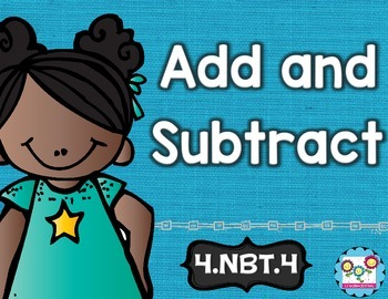 Addition and Subtraction of Whole Numbers Math Tasks and E