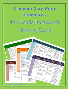 4th Grade Common Core Backwards Planning Guide