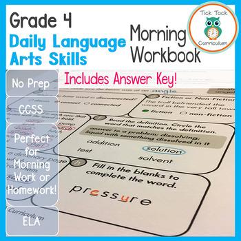 Grade 4 Daily Language Arts Skills Morning Workbook