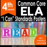 """4th Grade Common Core """"I Can"""" Standards Posters {ELA ONLY}"""