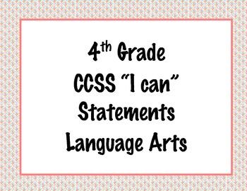 4th Grade Common Core I Can Statements {Colorful Diamond P