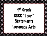 4th Grade Common Core I Can Statements {Pink, White & Gray