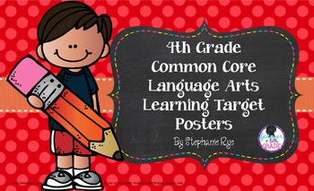 4th Grade Common Core Language Arts Learning Target Posters