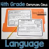4th Grade Language Graphic Organizers for Common Core