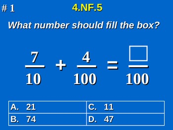4th Grade Common Core Math - Add & Express Fractions As Eq