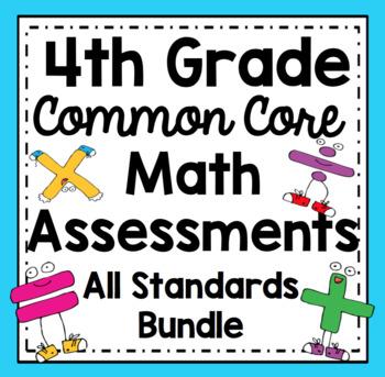 Common Core Math Assessments - 4th Grade