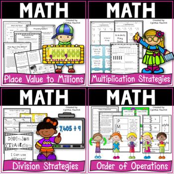 4th Grade Common Core Math Bundle