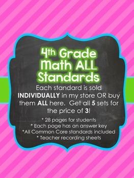 4th Grade Common Core Math Bundle *ALL STANDARDS*