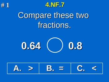4th Grade Common Core Math - Compare Two Decimals to Hundr
