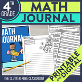4th Grade Math Journal Prompts | Math Journals | 4th Grade