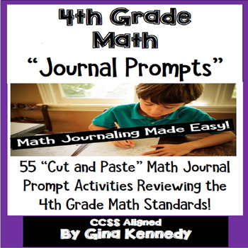 4th Grade Math Journal Prompts and Activities for Every Standard!