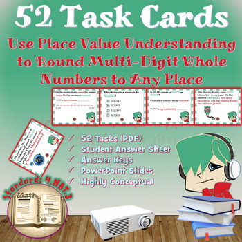 Common Core Math Bundle: 4.NBT.3 -Math Lesson and Task Cards