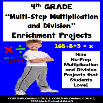 4th Grade Multi-step Multiplication and Division Problems