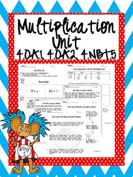 4th Grade Common Core Multiplication Mini Unit