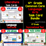 4th Grade Common Core Reading Task Card Bundle