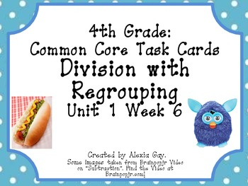4th Grade Common Core Task Cards: Subtraction with regroup