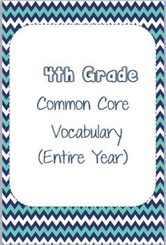 4th Grade Common Core Vocabulary