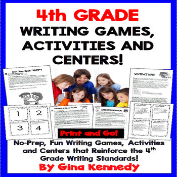 4th Grade Writing Games and Centers! Perfect for Writing Camps!