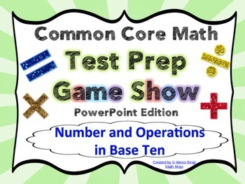 4th Grade Common Core Math Test Prep Game Show (NBT) PowerPoint