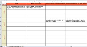 4th Grade Curriculum Map: Next Generation Science Standards