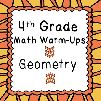 4th Grade Daily Math Review or Warm Ups Geometry Lines Ang