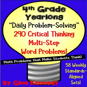 Daily Problem Solving for 4th Grade, 290 Multi-Step Word P