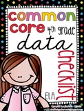 {4th Grade} ELA Common Core Data Checklist