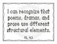4th Grade ELA I Can Statements