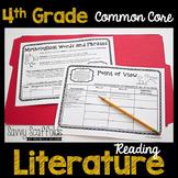 4th Grade Reading Literature Graphic Organizers for Common Core