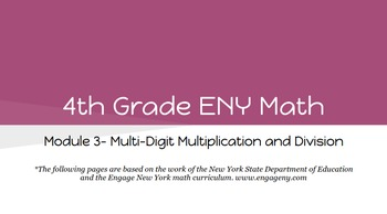 4th Grade Engage NY Math Module 3 Topic E- Lessons 14 - 21