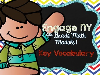 4th Grade EngageNY/Eureka Math - Module 1 Key Vocabulary D