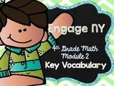4th Grade EngageNY/Eureka Math - Module 2 Key Vocabulary D