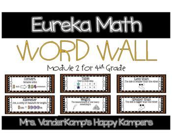 4th Grade Eureka Math EngageNY Word Wall: Module 2