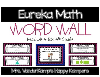 4th Grade Eureka Math EngageNY Word Wall: Module 4