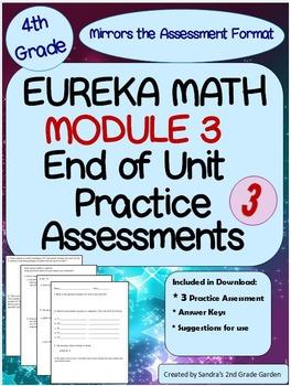 4th Grade Eureka Math Module 3 End of Module Practice Assessments