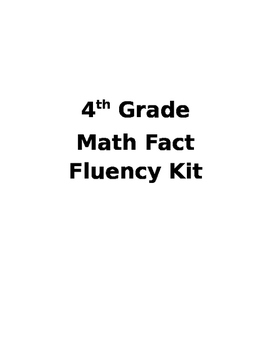 4th Grade Fact Fluency