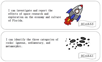 4th Grade Florida Science Standards-I CAN statements