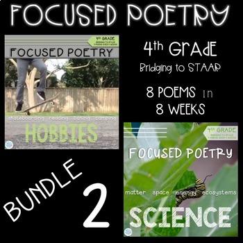 4th Grade Focused Poetry BUNDLE: Hobbies and Science