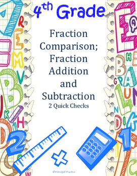 4th Grade Fractions: Comparison, Addition and Subtraction