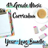 4th Grade General Music Curriculum: Year-Long Growing BUNDLE
