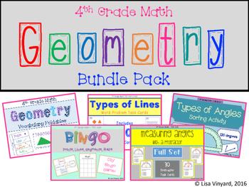 4th Grade Geometry BUNDLE PACK