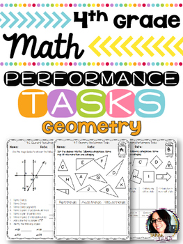 4th Grade Printables Geometry PERFORMANCE TASKS *COMMON CO