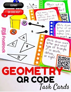 4th Grade Geometry QR Code Task Cards