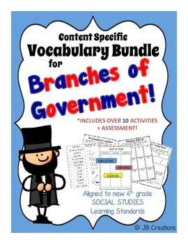 4th Grade Government Content Specific Vocabulary Activity