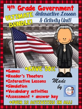 4th Grade Government Super Bundle of Lessons & Activities