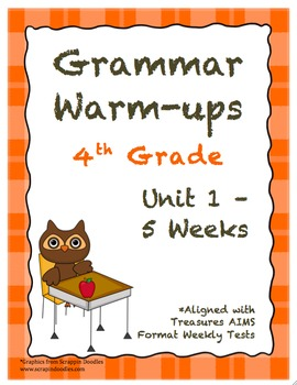 4th Grade Grammar Warm-ups - UNIT 1 - Aligned with Treasur