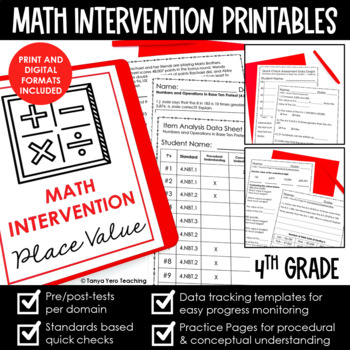 4th Grade Growing Bundle MATH INTERVENTION RTI FOR THE WHO