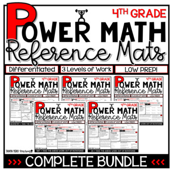 4th Grade Guided Math Reference Mats GROWING BUNDLE Small