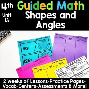 4th Grade Guided Math -Unit 13 Shapes and Angles