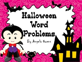Halloween Word Problems 4th-5th Grade